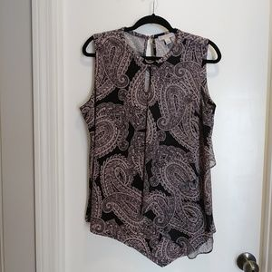 Dress Barn Paisley Top